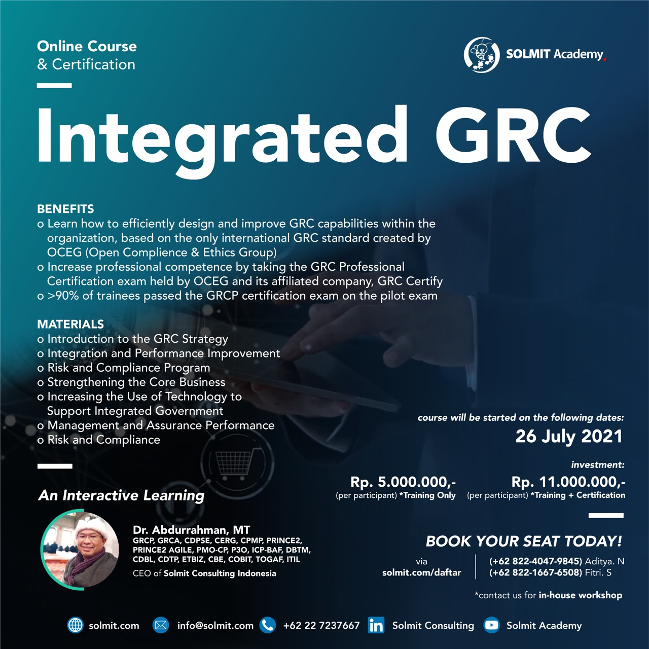 Online Course & Certification -  Integreted GRC