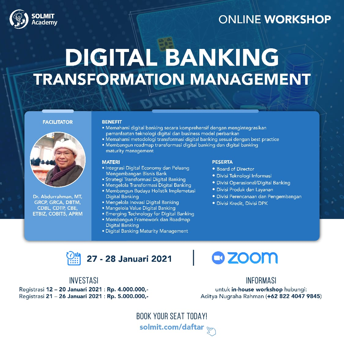 Online Workshop - Digital Banking Transformation Management