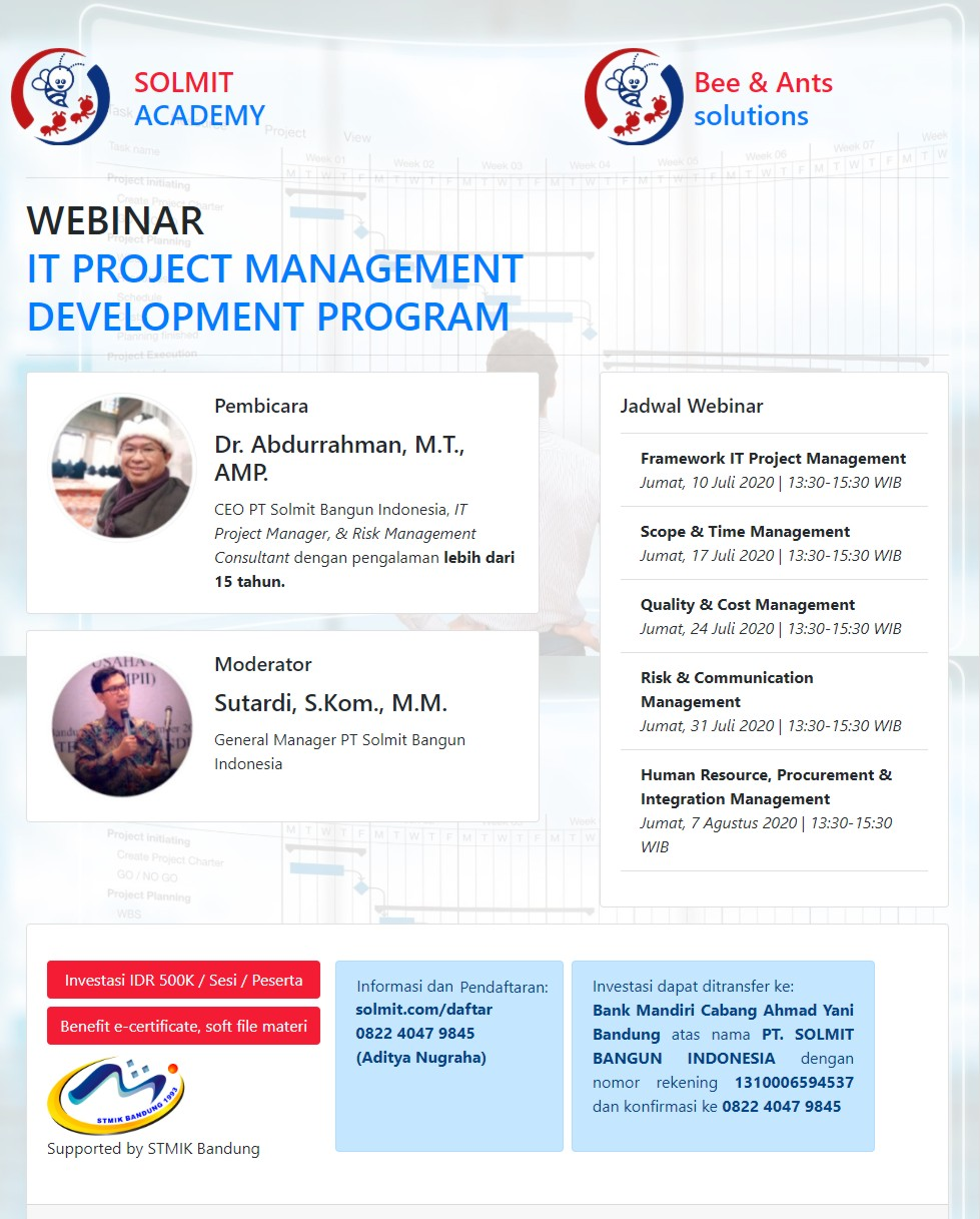 WEBINAR IT PROJECT MANAGEMENT(JULI)