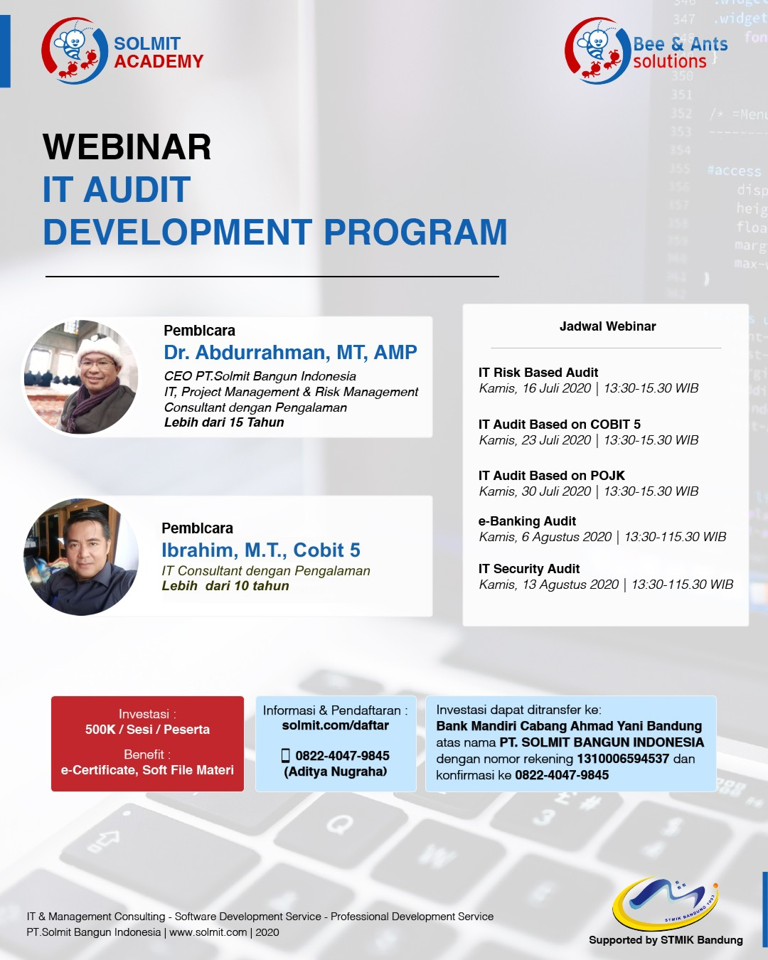 WEBINAR IT AUDIT PROGRAM(JULI)