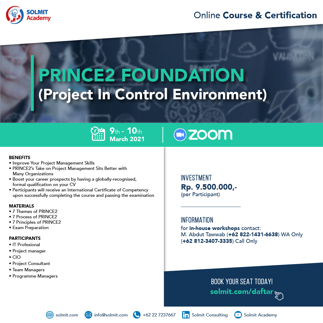 Online Course & Certification - PRINCE2 Foundation (Project in Control Environment)