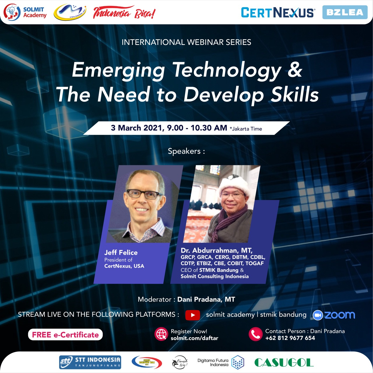 FREE INTERNATIONAL WEBMINAR - Emerging Technology & The Need to Develop Skills