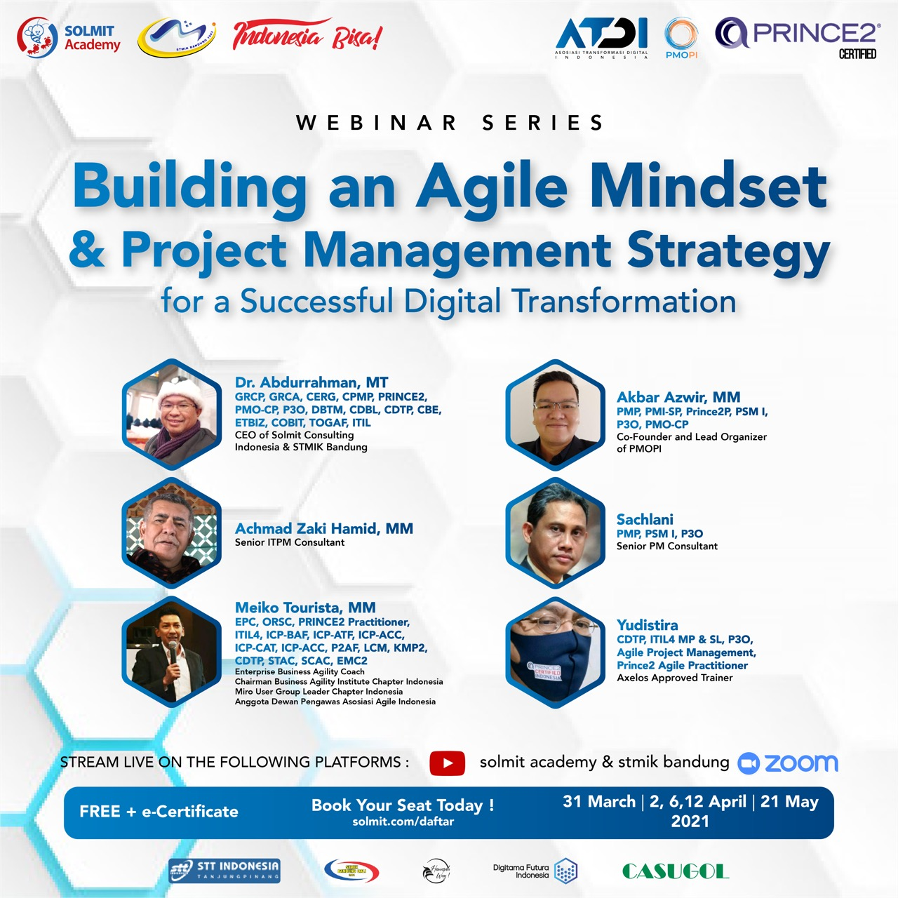 New FREE Webminar Series - Building an Agile Mindset & Project  Management Strategy