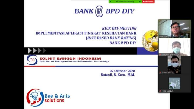 Kick Off Meeting Implementasi Aplikasi Tingkat Kesehatan Bank / Risk Based Bank Rating PT Bank BPD DIY